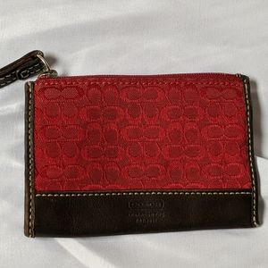 Coach card wallet/coin purse